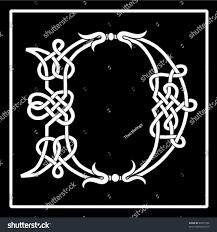 vector celtic knotwork capital letter d stock vector 65631856
