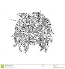 lion coloring stock illustration image black 39701551