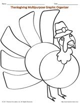 thanksgiving multipurpose graphic organizer turkey venn diagram