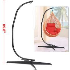 Hanging Chair Hammock Black Solid Steel C Frame Chair Hammock Stand Construction Porch