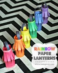 diy rainbow paper lanterns kids craft perfect for my little pony