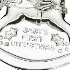 waterford baby s ornament 2016 silver