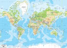 Map Of The World Countries by Physical Map Of The World Deboomfotografie