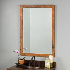 Beveled Bathroom Mirrors by Milano Hammered Copper Rectangular Wall Mirrors Cpm294 Native Trails