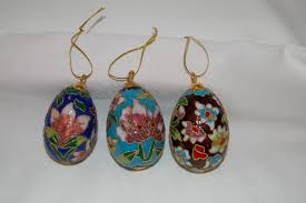 egg ornaments cloisonne eggs ornaments