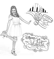 violetta danse notes violetta coloring pages coloring for kids