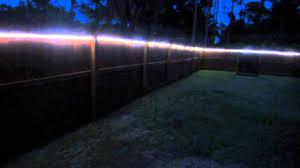 backyard fence led lights youtube