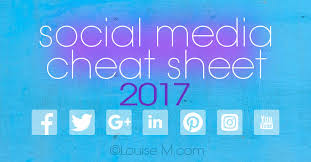 media cheat sheet 2017 must have image sizes
