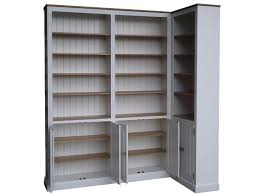 solid pine corner bookcase 8 u0027 tall handcrafted white painted