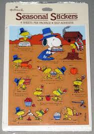 peanuts hallmark thanksgiving stickers collectpeanuts
