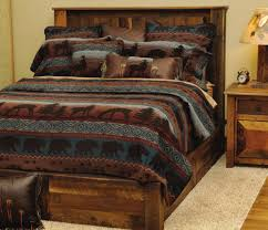 epic bedroom lodges decor design ideas using bear tribal bed