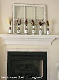 decorations thanksbottles12 filled with thanks mantel autumn