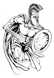 spartan warrior vector illustration christos georghiou krisdog