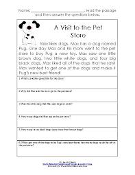 comprehension worksheets for grade 1 worksheets