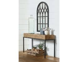 butcher block console table magnolia home boldly handsome is the butcher block console table from our architectural genre its contemporary streamline styled plank top finished in salvage