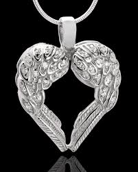 jewelry to hold ashes winged memories sterling silver heart cremation pendant