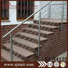 Iron Grill Design For Stairs High Polished Stainless Steel Wire Mesh Deck Railing Decorative