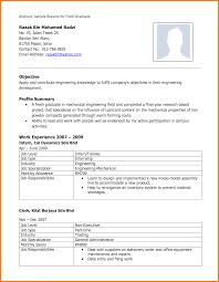 Sample Resume For Mechanical Engineer Fresher by Download Resume Format For Mechanical Engineer Fresher Resume