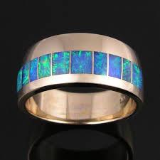 Opal Wedding Ring by Men U0027s Australian Opal Wedding Ring In 14k Gold U2013 The Hileman