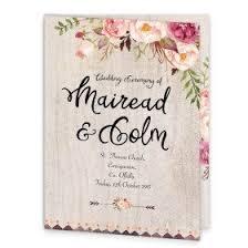 wedding ceremony booklet flowering affection wedding ceremony booklet loving invitations
