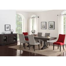 monte carlo dining set dining table u0026 4 side chairs red