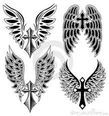 image result for cross with wings anchor