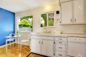 small kitchens with white cabinets small kitchen room interior with white cabinets blue walls and