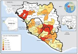 west africa map ebola ebola virus disease outbreak west africa september 2014