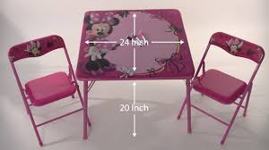 Mickey Mouse Lawn Chair by Disney Minnie Mouse Erasable Activity Table Set Youtube
