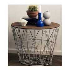 wire and wood basket side table products studios and boxes on pinterest