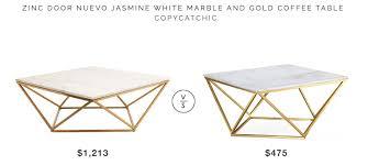 marble gold coffee table zinc door nuevo jasmine white marble and gold coffee table copycatchic