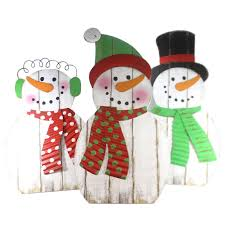 snowman family st 3 decor height 48 inches