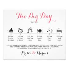 Destination Wedding Itinerary Wedding Itinerary Gifts On Zazzle