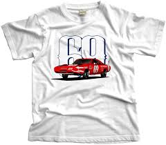 dodge charger clothing and cult car t shirts