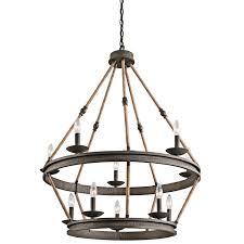 Cabin Light Fixtures by Kichler 43424oz Ten Light Chandelier Amazon Com