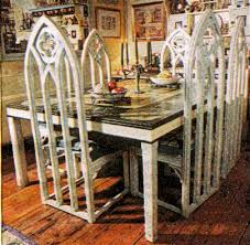 Gothic Dining Room Table by Gothic Carved Wood Painted Pine Dining Tables And Dining Chairs