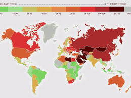 World Map Countries Map Of The Most Polluted And U0027toxic U0027 Countries Business Insider