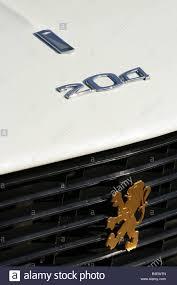 peugeot car emblem peugeot 204 vintage car model year 1965 detail details logo
