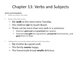 chapter 13 verbs and subjects ppt download
