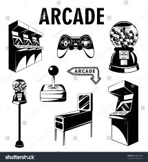 arcade room video game set gaming stock vector 478816393