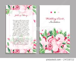 wedding card template floral wedding card template vector free