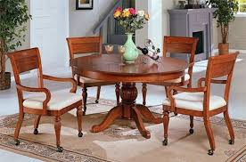 Dining Room Chairs With Arms And Casters Sets Talkfremont - Caster dining room chairs