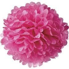 pink tissue paper fuchsia pink 10 inch tissue paper flower pom pom bazaar
