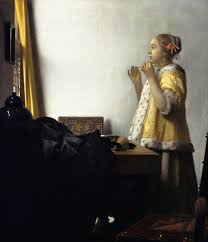 vermeer pearl necklace woman with a pearl necklace