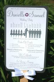Wedding Program Paddle Fan Template One Page Wedding Ceremony Program Examples Finding Wedding Ideas