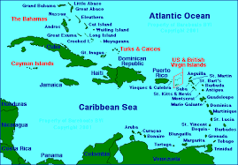 map of bvi and usvi map of the caribbean
