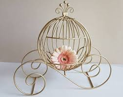 Cinderella Carriage Centerpieces by Large Gold Metal Wire Cinderella Pumpkin Carriage For