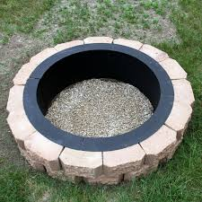 Outdoor Firepit Kit In Ground Wood Burning Pit Kits Cinder Block To Add