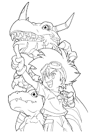 40 digimon coloring pages coloringstar