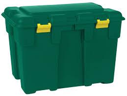 Keter Woodland 30 Garden Storage Box Plastic Outdoor Storage Bench Plastic Garden